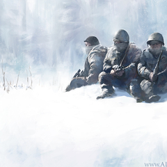 soldiers in snow by alexson