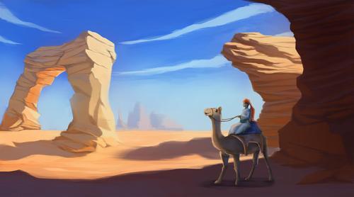 Display jumbo camel rider