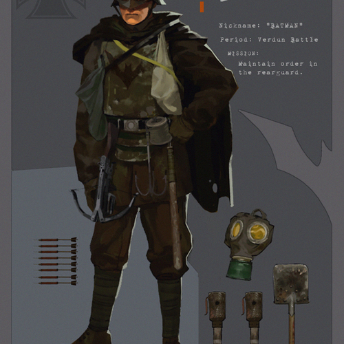 Batman 1916 by davidgau