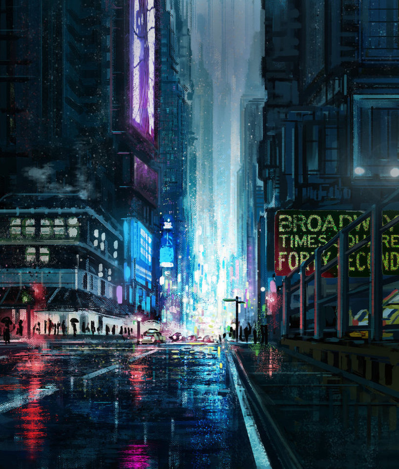 cityscape by protagonist