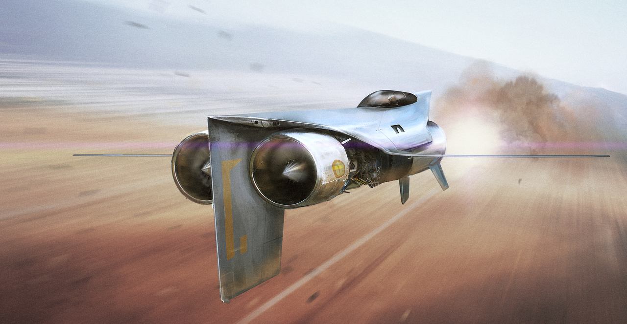 sci-fi jet fighter 2 by silberius