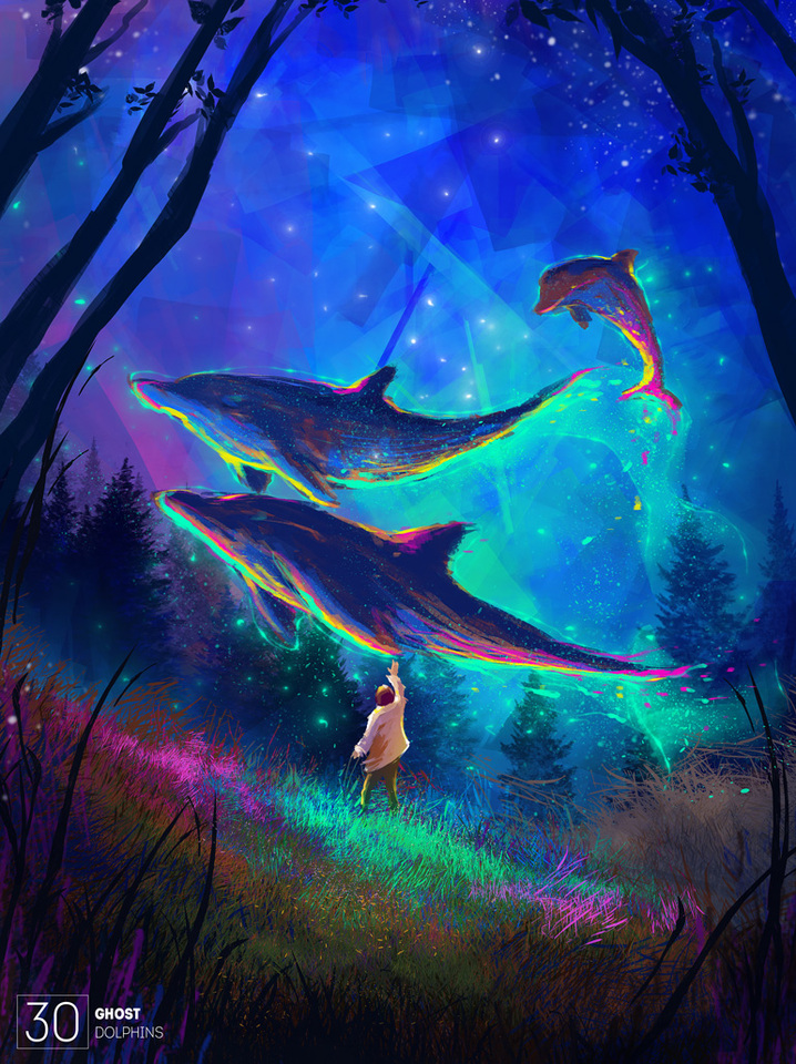 ghost dolphins by afanur