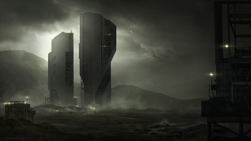 Display jumbo sci fi environment dark pumax