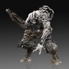 chaotic cyborg sculpt concept 1 by calebnefzen