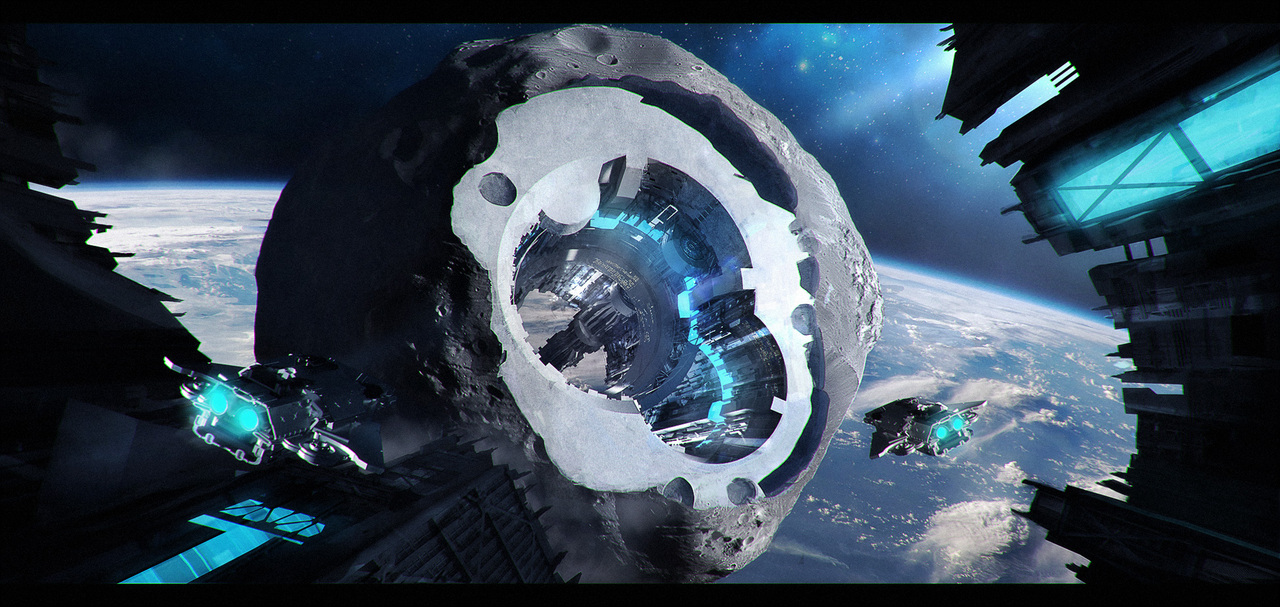 asteroid station by macdrab
