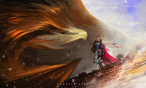 Display jumbo female viking 2