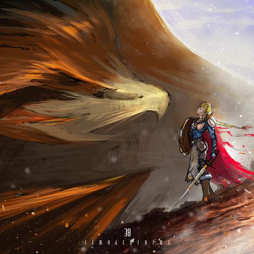 Female Viking by afanur