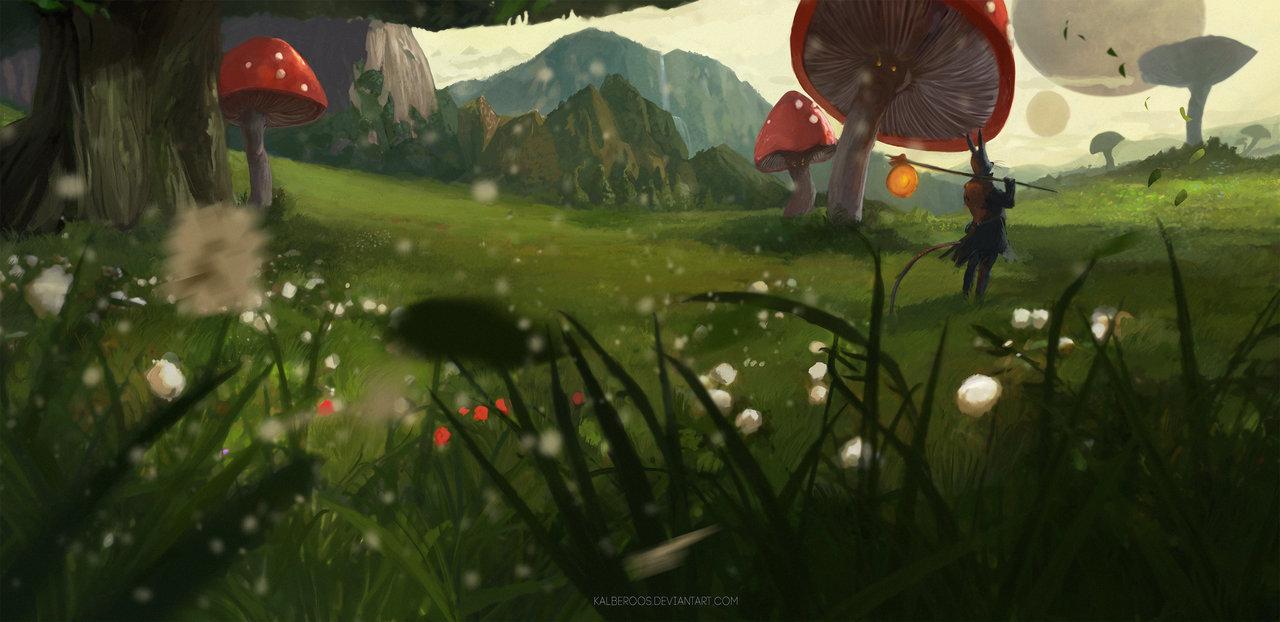 giant mushroom by kalberos