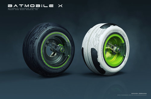 Display jumbo wheels green