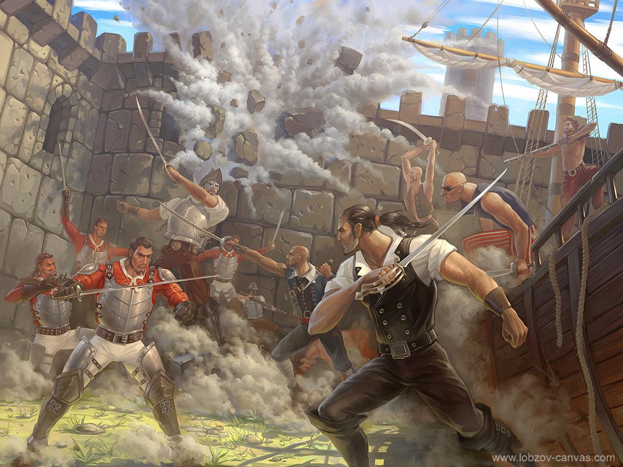 pirate assault by lobzov