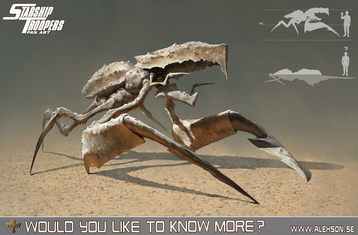 starship troopers burrower bug by alexson