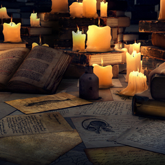 under light of books by kewai
