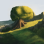 Thumb tree print