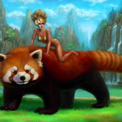 on big red panda by lobzov