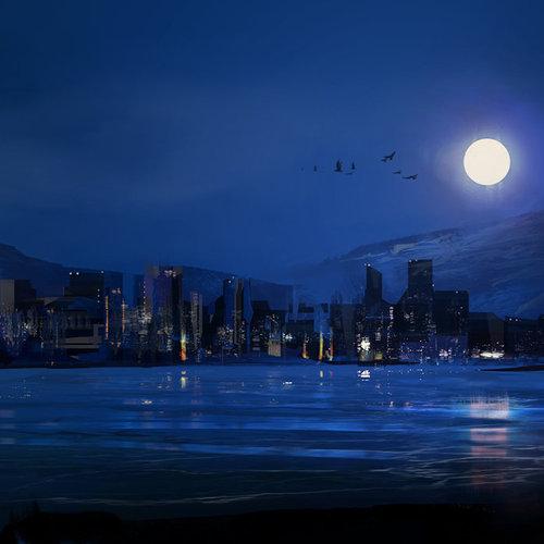 Moon Reflected On The River by dmitryvishnevsky