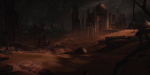 Display jumbo desert city
