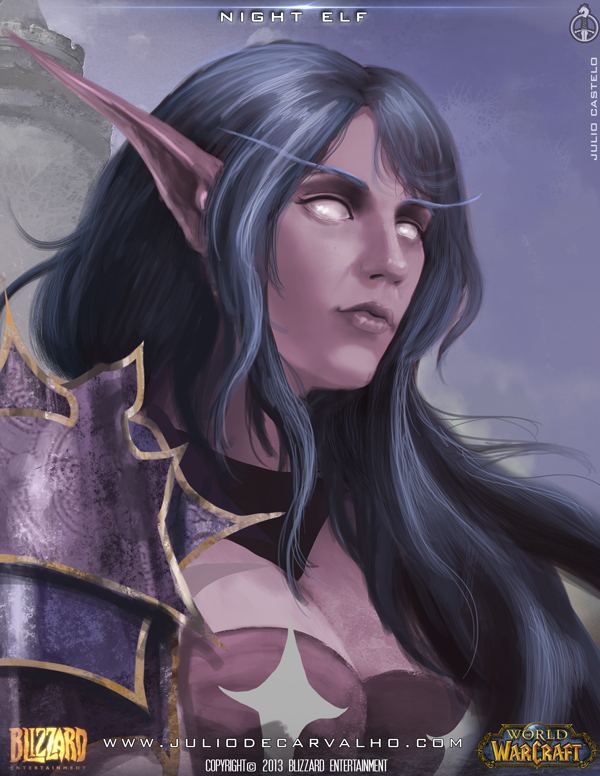 world of warcraft night elf by juliocastelo
