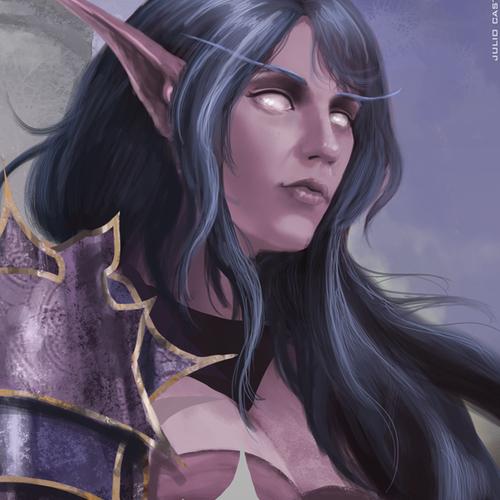 World Of Warcraft Night Elf by juliocastelo