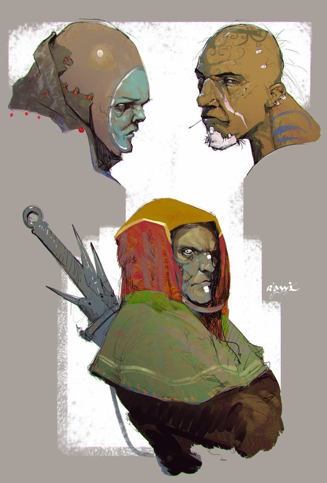 sketches by rawi