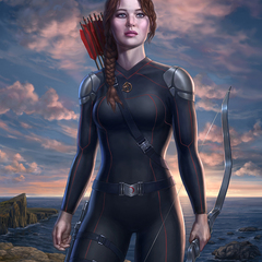 katniss by lobzov