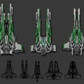spaceship designs by jefftalbot