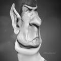 spock bw by ricaldeart