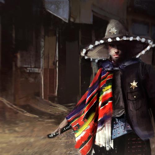 Mexican Samurai Sheriff by patfix