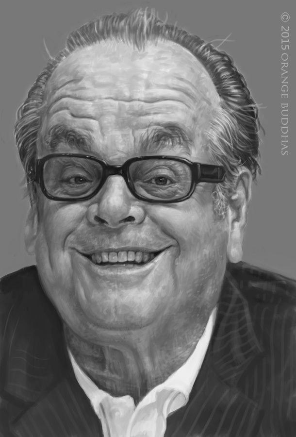 jack nicholson caricature sketch by orangebuddhas