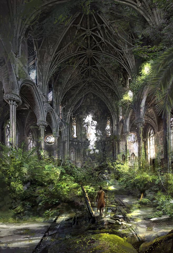 abandoned cathedral 1 by klauswittmann