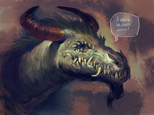 Display jumbo dragon barbu