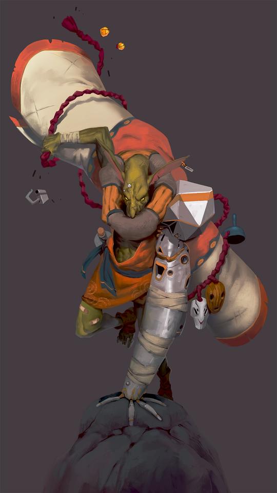 cyborg goblin by al_jerek