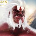 hanuman digital paint by santh