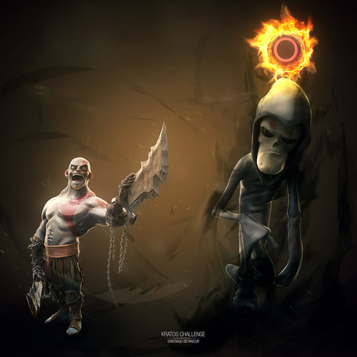 Kratos Vs Death by santiago_betancur