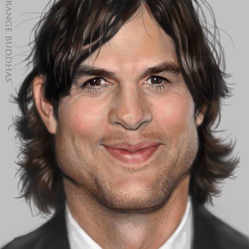 Ashton Kutcher Caricature by orangebuddhas