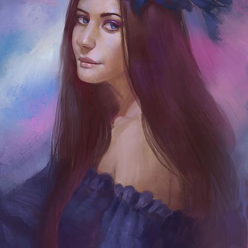 Flower Maiden by giby
