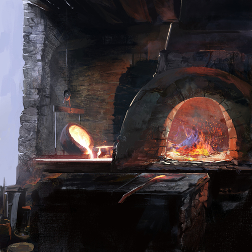 Speedpaint   The Forge by xath
