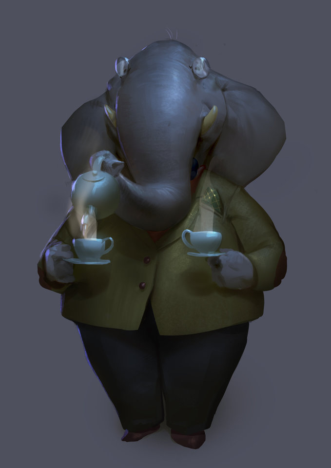 professor elbert elephant by mischeviouslittleelf