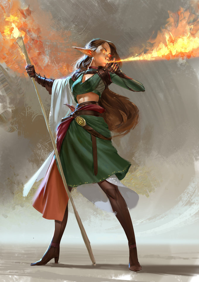 fire elf by mischeviouslittleelf