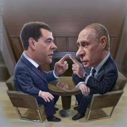 Vladimir Putin And Dmitry Medvedev by orangebuddhas