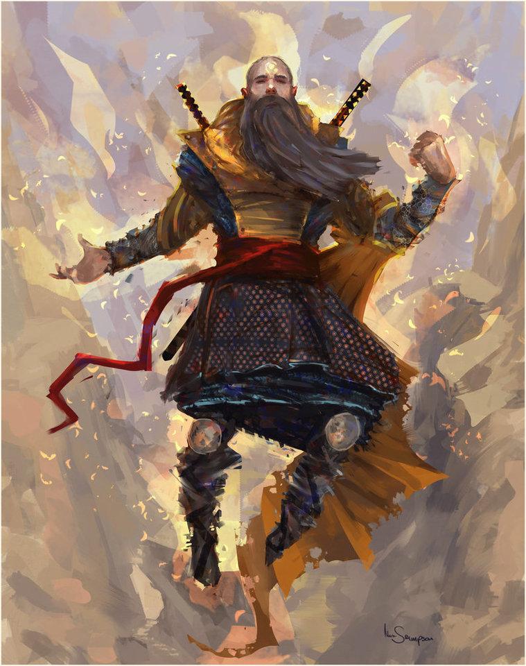 Display swordmaster at peace by marcsampson d8pew4k