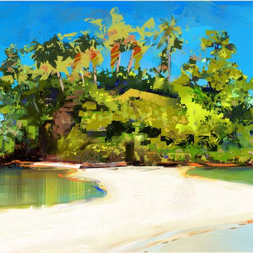 Study Of Tropical Island By Marcsampson D8m1py1 by marcsampson