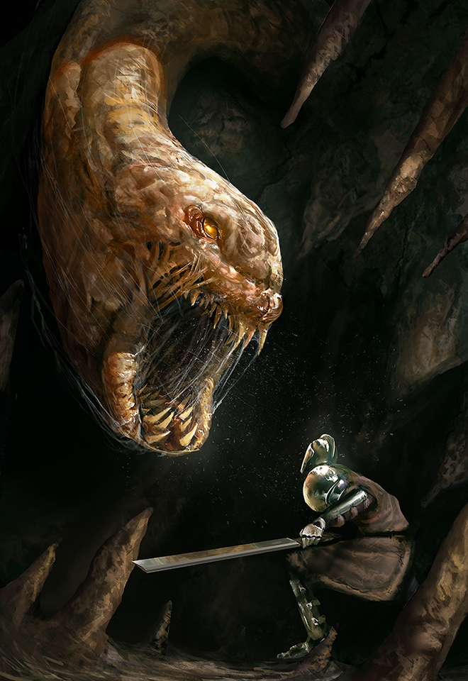 cave worm by vitorafiie