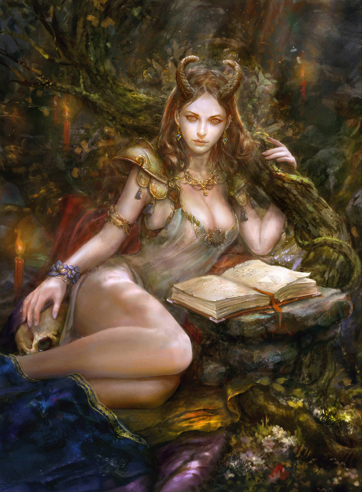 forest demoness by artmage