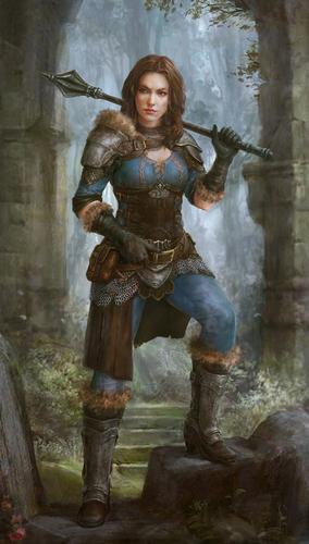 Display jumbo girl warrior