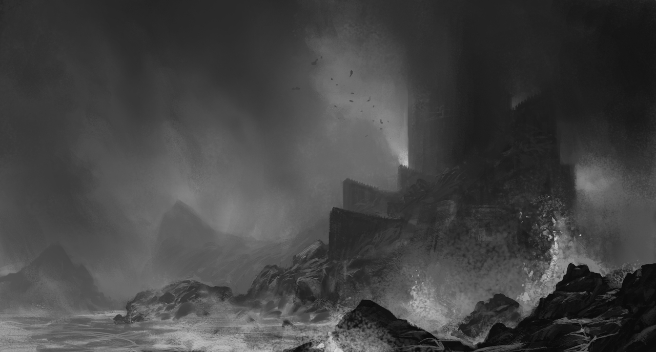 stormy fortress by mikeredman