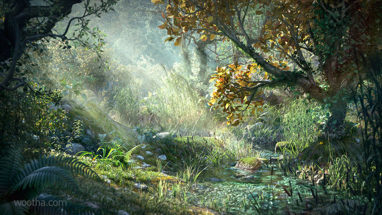 a peaceful place - 3d creative december 2014 by wootha