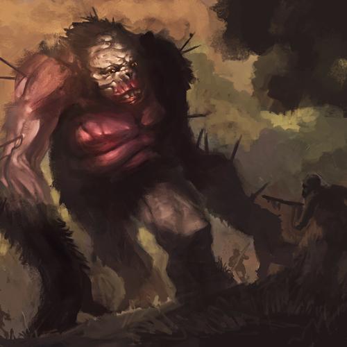 Prehistoric Big Foot by douglasderi