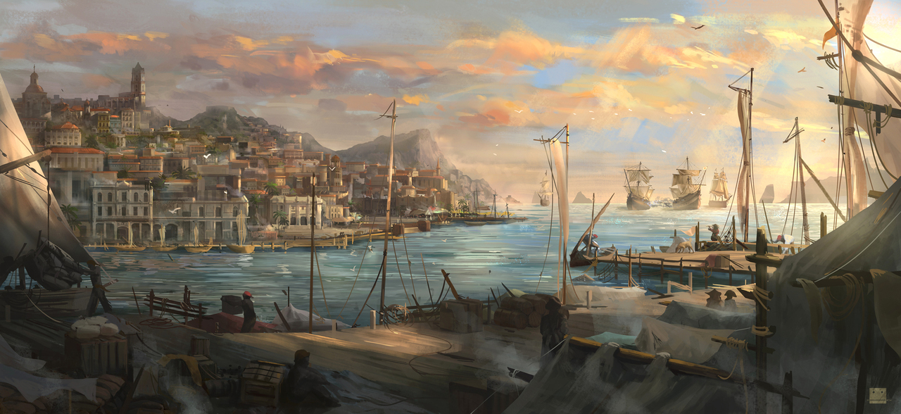 carribean port by sickbrush
