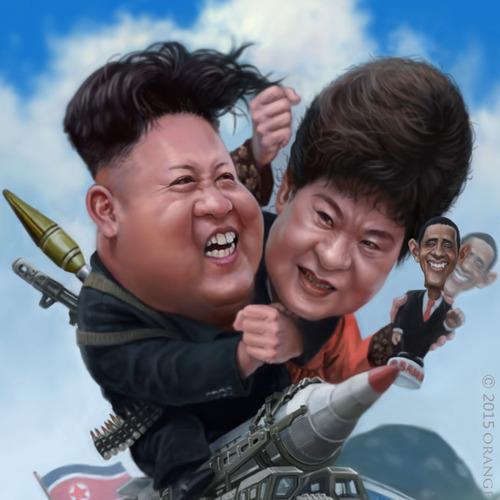 Kim Jongwoon Park Geunhye by orangebuddhas