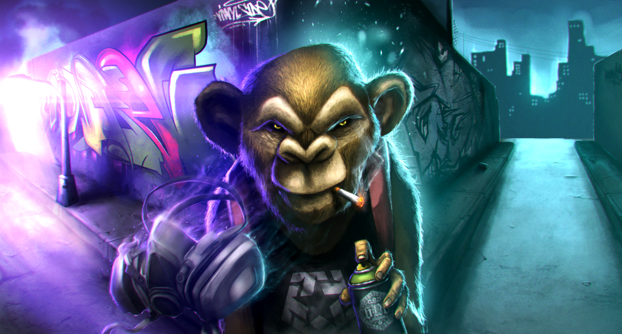 graffiti-monkey by chrisflores